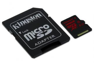 Карта памяти Kingston microSDXC (Class 10) U3 128GB (SDCA3/128GB)