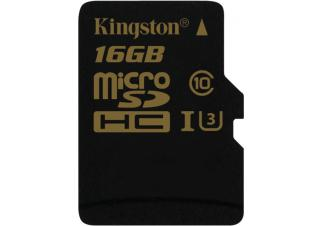 Карта памяти Kingston microSDHC 16GB Class 10 UHS-I U3 (SDCG/16GBSP)