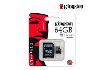 Карта памяти Kingston (SDCS/64GB) microSDHC 64GB (с адаптером)